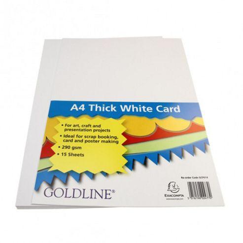 White Card A4 290gsm - 15 Pk
