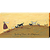 Sam Toft Walking Down To Happiness Large Canvas Print