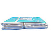 2 Pk White 100%Egyptian Cotton 200T Cot Fitted Sheet 60 x120cm White