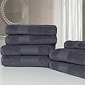 Dreamscene Luxury Egyptian Cotton 7 Piece Bathroom Towel Set - Grey