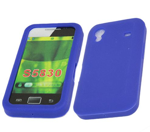 iTALKonline 18005 SoftSkin Silicone Case Blue - For  Samsung S5830 Galaxy Ace