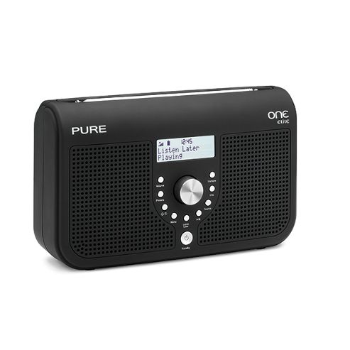 Pure Portable DAB/FM Radio with Clock Sleep Timer and 50 Presets Black