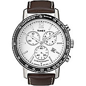Timex Gents Brown Chronograph Strap Watch T2N565D7