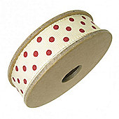 Ribbon Reel - Dotty Red with Cream