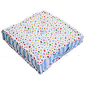Homescapes Cotton Multi Coloured Stars Floor Cushion, 40 x 40 cm