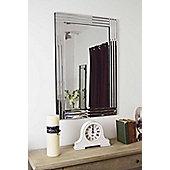 Modern Silver Bevelled Triple Edge Venetian Mirror 1Ft11 X 2Ft11 60Cm X 90Cm