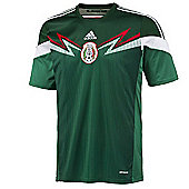 2014-15 Mexico Home World Cup Football Shirt - Green