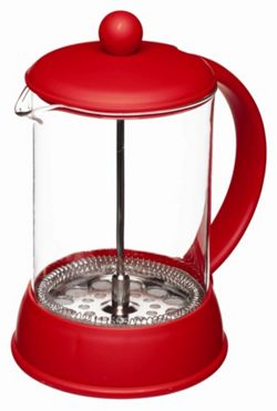 KitchenCraft Colourworks 800ml Cup Cafetiere in Red.