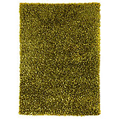 Husain International Plain Green Woven Rug - 180cm x 120cm (5 ft 11 in x 3 ft 11 in)