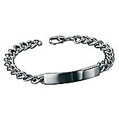 Mens Fred Bennett Polished Steel ID Bracelet