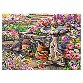 Gibsons Bird Bath Time By Greg Giordano 1000-Piece Jigsaw Puzzle