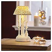DOBBIES WHITE PORCELAIN LIGHT UP TABLE LAMP