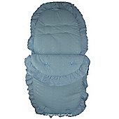 Cuddles Collection Broderie Anglais Footmuff (Blue)