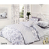 Vintage Laura Blue Reversible Duvet Cover Set, Double