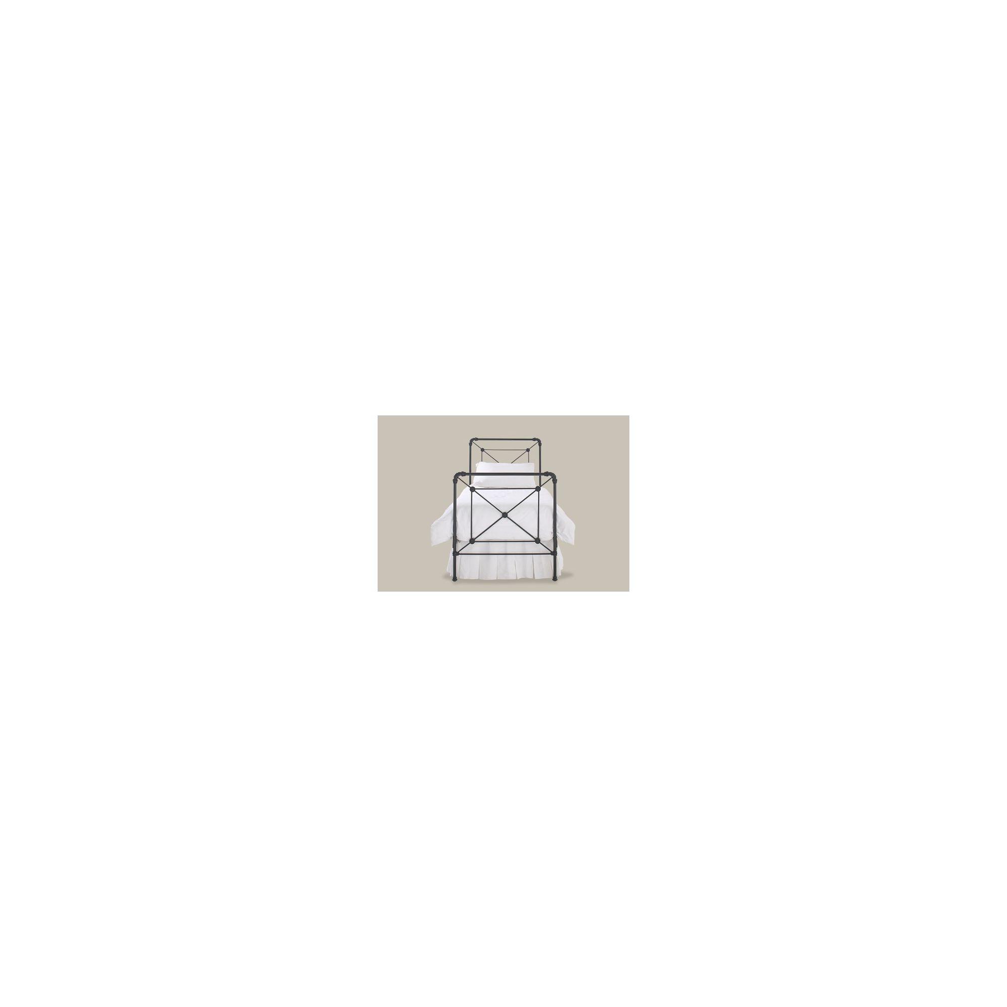 OBC Calais Bed Frame - Single - Satin Black at Tesco Direct