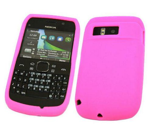 iTALKonline SoftSkin Silicone Case Pink - For Nokia E6