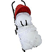 Broderie Anglaise Footmuff/Cosy Toes Fit Buggy Puschair Baby White Slot Lace