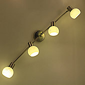 Brilliant Bona Four Light Ceiling Spotlight in Satin Chrome