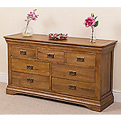Bordeaux Rustic Solid Oak 3+4 Chest Of Drawers