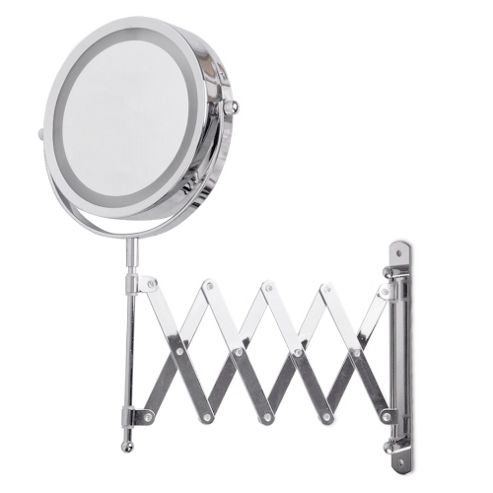buy battery operated illuminated led magnifying mirror in chrome with extending bracket from our. Black Bedroom Furniture Sets. Home Design Ideas