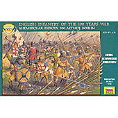 Zvezda - English Infantry Of The 100 Years War - 1:72 Scale 8060