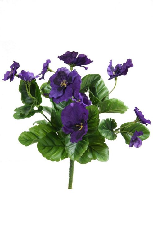 buy artificial 27cm purple pansy plug plant from our. Black Bedroom Furniture Sets. Home Design Ideas