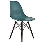 DSW Dining Chair Marine Blue Walnut
