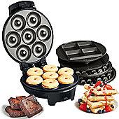 VonShef 3 in 1 Waffle, Brownie & Mini Doughnut Maker