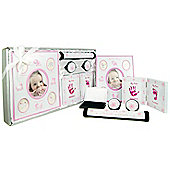 New Baby Girl 5 Piece Keepsake Gift Set - Pink / White