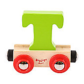 Bigjigs Rail Rail Name Letter T (Green)