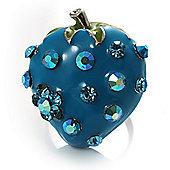 Sky Blue Enamel Strawberry Ring