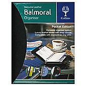 Collins Balmoral Premium Leather A6 Pocket Personal Organiser, Black