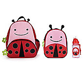 Skip Hop Zoo Pack, Lunch Bag and Straw Bottle Set Ladybug