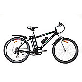 Cyclamatic Power Plus E-Bike Electric Mountain Bike with Lithium-Ion Battery, Black