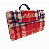 Country Club Family Size Beach & Picnic Blanket, 150 x 200cm, Red Check
