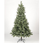 7ft Rosemary Spruce Silver Glittering Christmas Tree