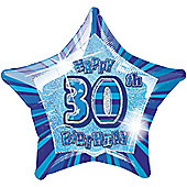 30th 20' Star Foil Balloon (each)