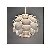 Artichoke Style Ceiling Pendant Light Shade in White