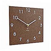 Brown Recycled Paper ECO Wall Clock