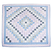 Woven Magic Trip Around The World Blue Lilac Crib Throw