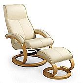 Larson Matt Dark Brown Natural Leg Recliner Chair