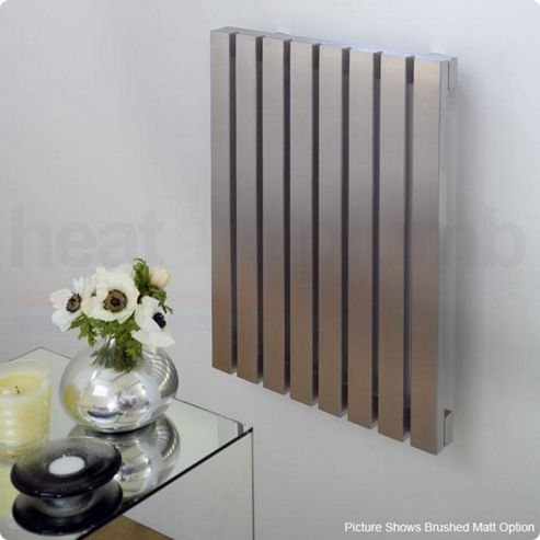 Aeon Ararat Stainless Steel Designer Radiator 500mm High x 590mm Wide