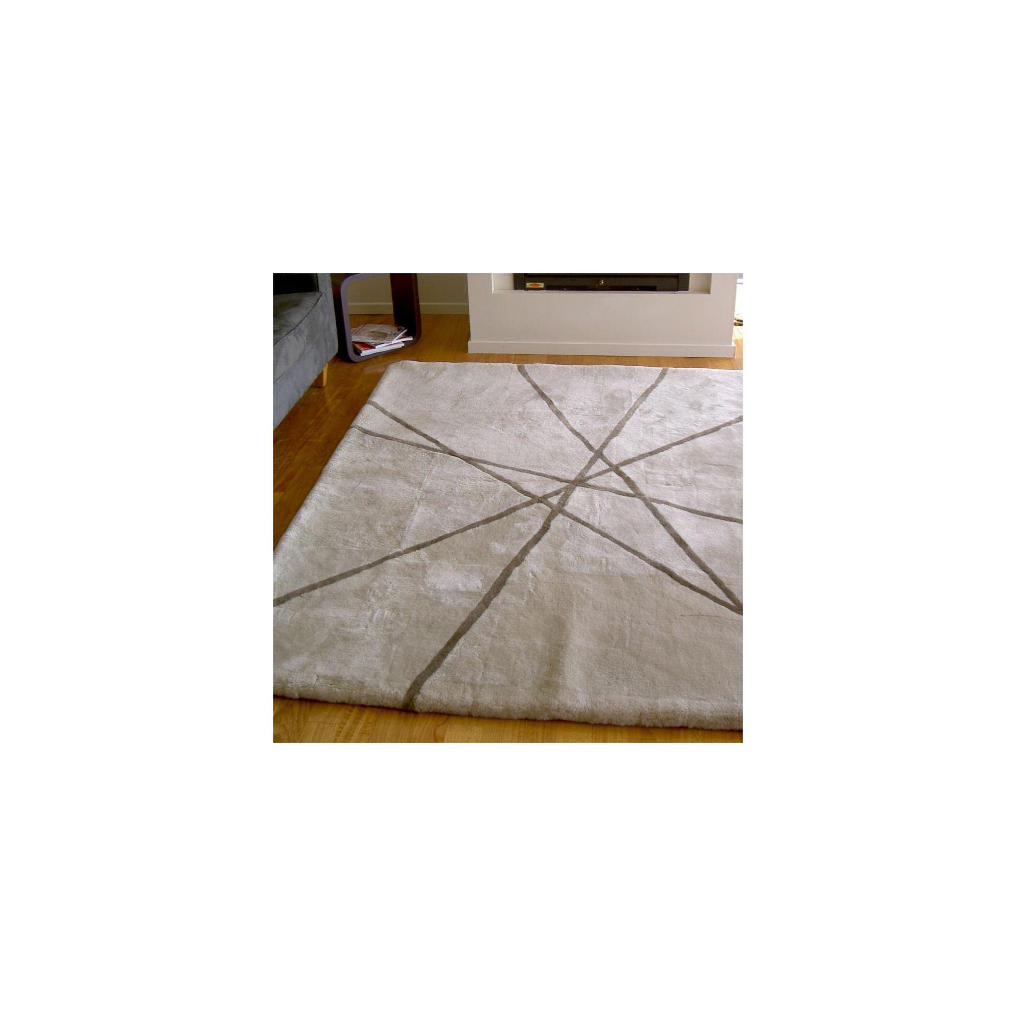 Bowron Sheepskin Shortwool Design Lines Rug - 350cm H x 250cm W x 1cm D at Tesco Direct