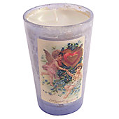 Ian Snow Victorian Filled Glass Votive - Lilac