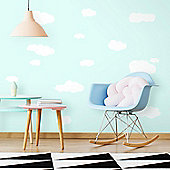 White Clouds Wall Stickers