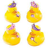 Princess Rubber Ducks (Pack of 4)