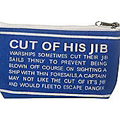 Parlane Nautical Sailing Blue & White Make Up / Cosmetic Bag - 10 x 21cm