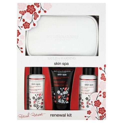 Baylis & Harding Skin Spa Cherry Blossom, Oriental Lilly & Lotus Flower Bag Gift Set