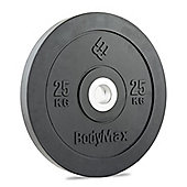 Bodymax Olympic Rubber Bumper Plate - Black 25kg