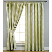 Spot Pencil Pleat Curtains 117 x 137cm - Sage